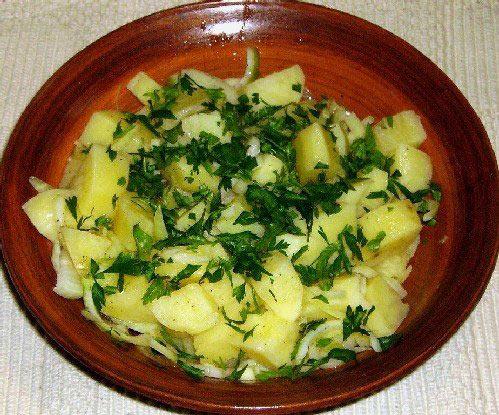 Салат с картошки фото