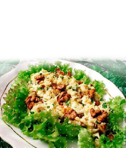 Вкусный быстрый салат с сыром