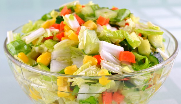 салат светофор рецепт со свежими овощами