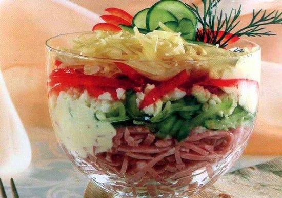 Салат с веченой с фото