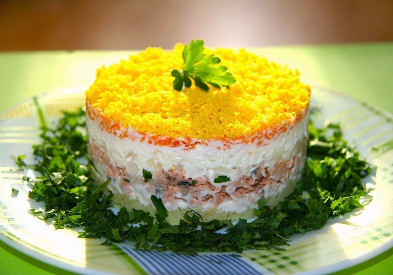 салат рецепты с фото несложные с консервами