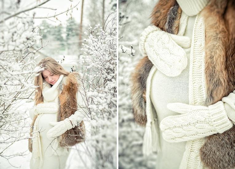 Фото беременных зимой