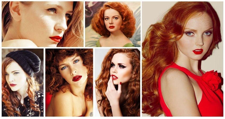 Что идет рыжим макияж фото