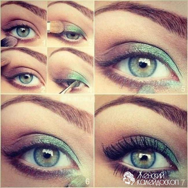 Макияж для зеленых глаз пошагово с