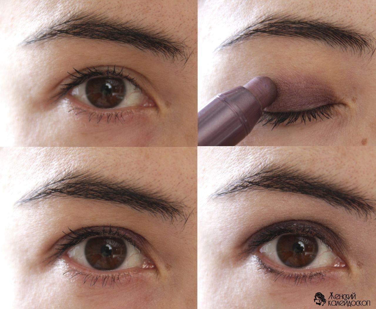 Как красиво накрасить глаза тенями пошаговая инструкция фото