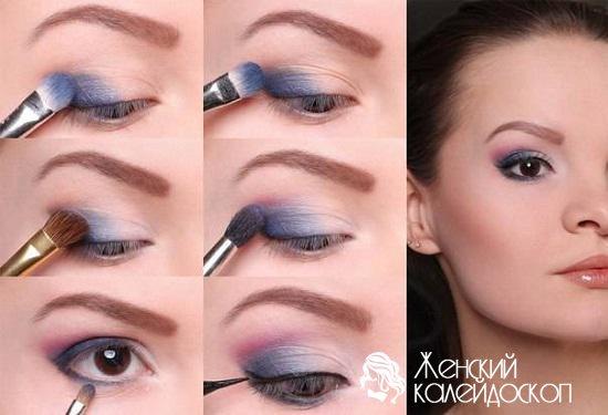 Как накрасить маленькие глаза пошагово