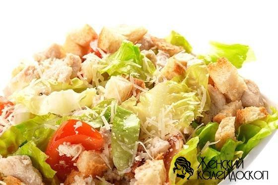 цезарь салат с копченой курицей рецепт