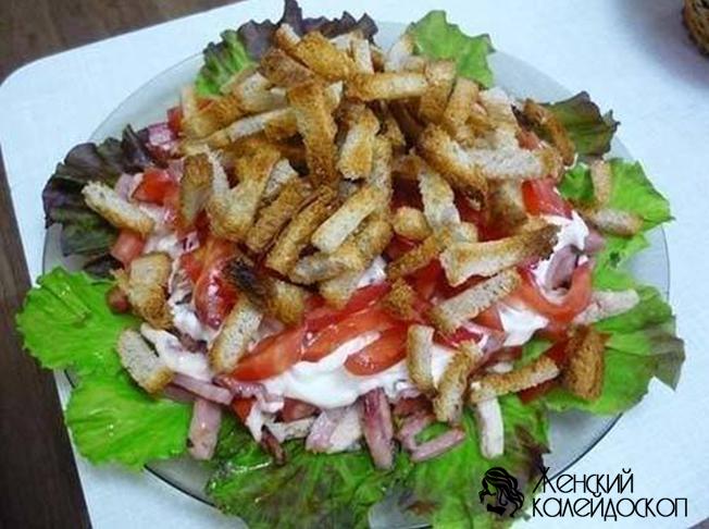 Салат с курицей на скорую руку
