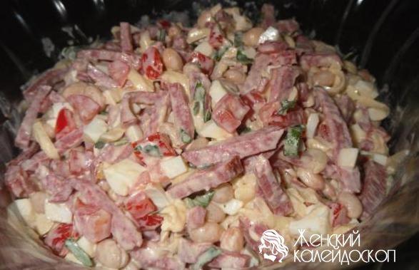 Салаты с кириешками рецепт с фото