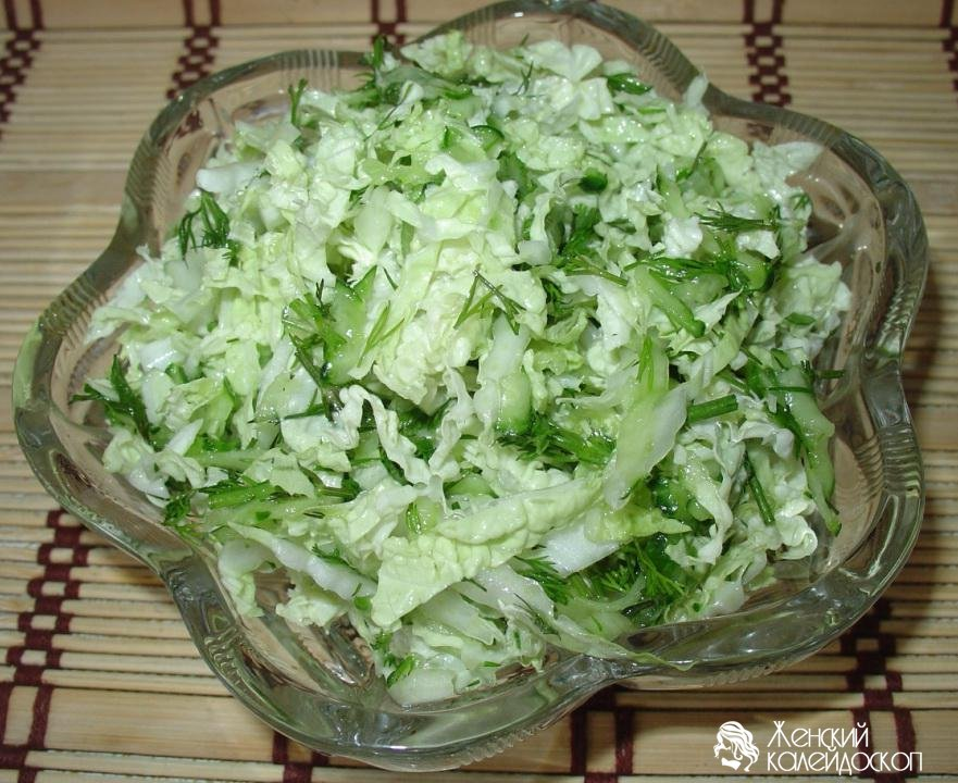 Как приготовить салат из пекинской капусты с