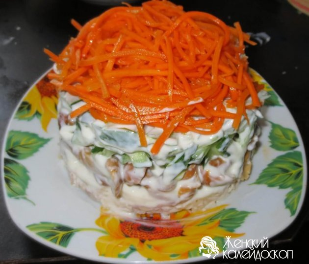 морковка по корейски с копченой курицей салат рецепт