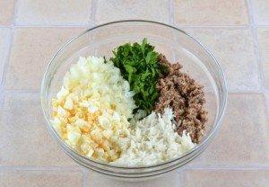 Салат из сайры на 5 порций