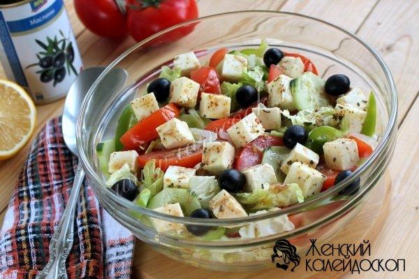 греческий салат рецепт с капустой