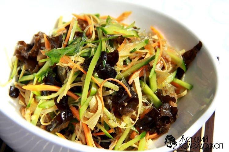Китайский салат с фунчозой древесными грибами — photo 6