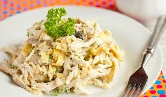 министерский салат с блинами рецепт с фото
