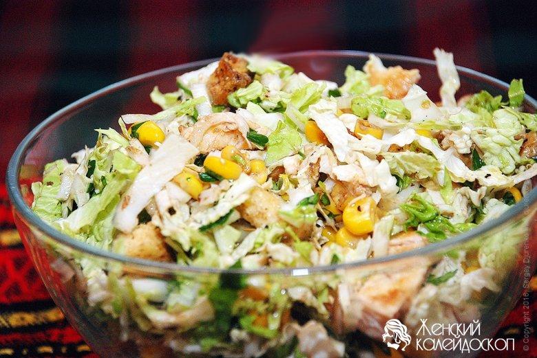 Салат из капусты быстро и вкусно