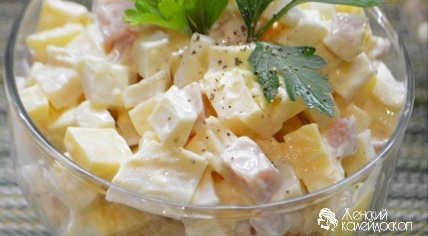 Салат с копчёным окорочком рецепт